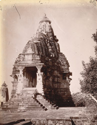 General view from the north-east of the Visvanatha Temple, Khajuraho